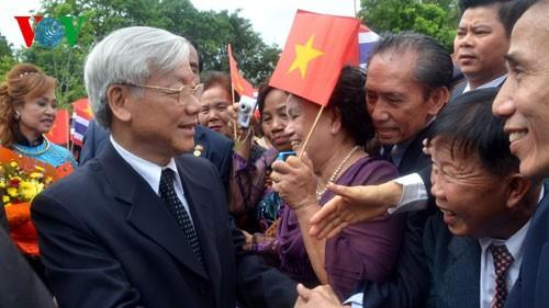 เลขาธิการใหญ่พรรคคอมมิวนิสต์เวียดนามเสร็จสิ้นการเยือนไทยด้วยผลสำเร็จอย่างงดงาม - ảnh 1