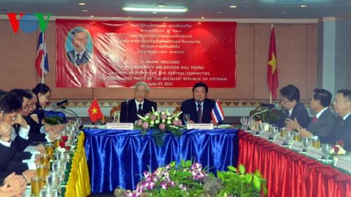 เลขาธิการใหญ่พรรคคอมมิวนิสต์เวียดนามเสร็จสิ้นการเยือนไทยด้วยผลสำเร็จอย่างงดงาม - ảnh 3