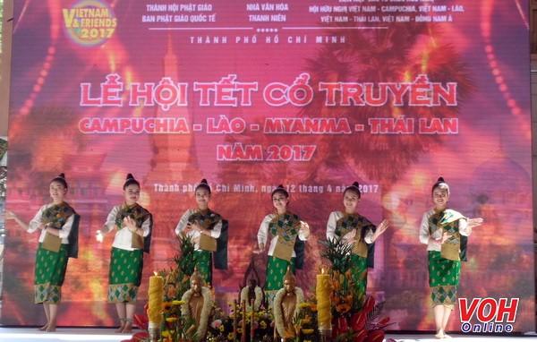 เทศกาลปีใหม่ตามประเพณีของกัมพูชา ลาว เมียนมาร์และไทยปี 2017 - ảnh 1