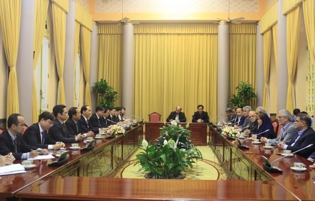 ประธานประเทศต้อนรับประธานหอการค้าอิหร่าน - ảnh 1