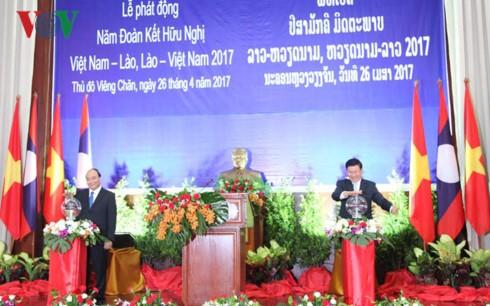 เปิดปีสามัคคีมิตรภาพเวียดนาม-ลาว ลาว-เวียดนาม 2017 - ảnh 1