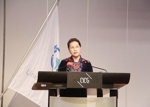 응웬 티 김 응안 (Nguyen Thi Kim Ngan) 베트남 국회 의장의 국제 의회 연맹 (IPU) 총회 활동 - ảnh 1