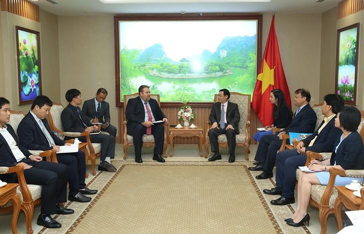 브엉띤후에 부총리, AES 에너지 회사(미국)의 베트남 시장 총괄 책임자 접견 - ảnh 1