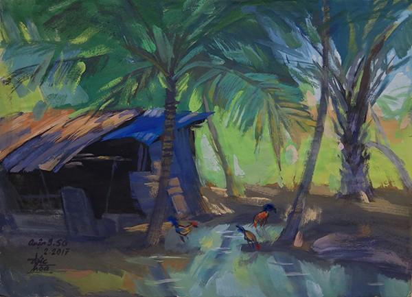Mùa xuân trong tranh của họa sĩ Nguyễn Đức Hòa - ảnh 2