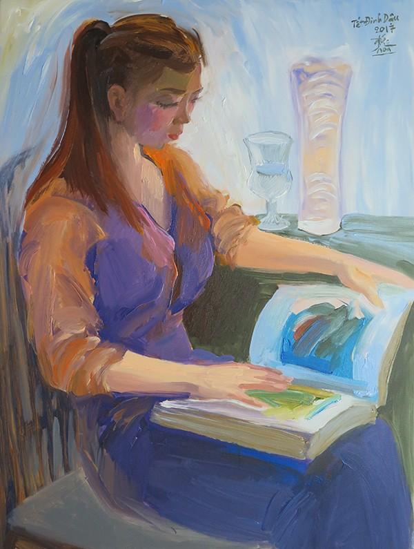 Mùa xuân trong tranh của họa sĩ Nguyễn Đức Hòa - ảnh 4