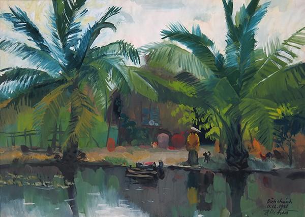 Mùa xuân trong tranh của họa sĩ Nguyễn Đức Hòa - ảnh 5