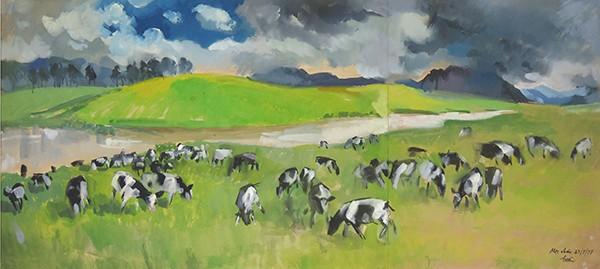 Mùa xuân trong tranh của họa sĩ Nguyễn Đức Hòa - ảnh 7