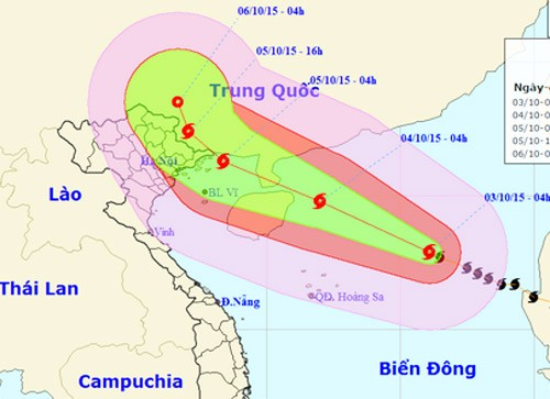 Компетентные органы Вьетнама информируют население страны о тайфуне «Mujegae» - ảnh 1