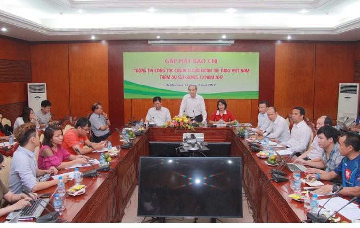 Сборная Вьетнама стремится занять одно из первых мест на 29-х играх ЮВА - ảnh 1