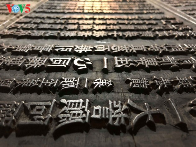 """World's oldest carved Buddhist Sutras on """"thi"""" wood at Bo Da pagoda - ảnh 7"""