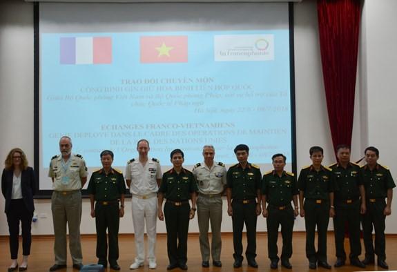 베트남 –프랑스, 국제연합 평화유지 전공교류행사 - ảnh 1