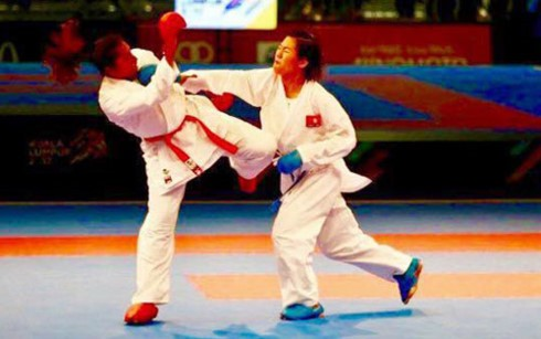 Vietnam wins historic gold medal at Karate Premier League - ảnh 1