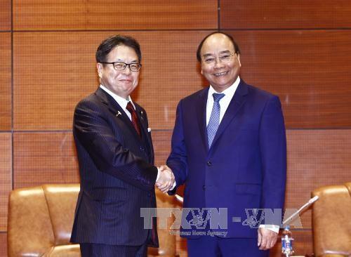 Premier vietnamita recibe a funcionarios de algunas economías miembros de APEC - ảnh 1