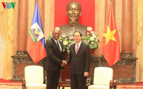 Presidente del Senado haitiano termina agenda de trabajo en Vietnam  - ảnh 1