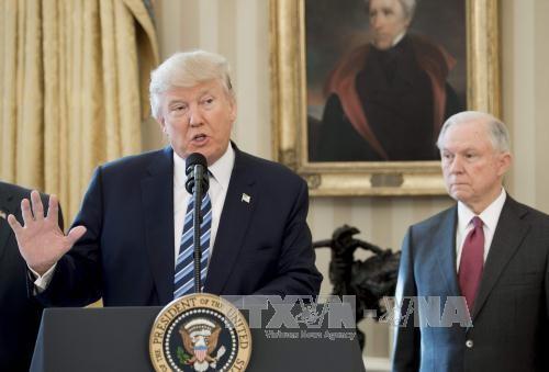 Donald Trump da la bienvenida al levantamiento parcial de Corte Suprema para su veto migratorio  - ảnh 1