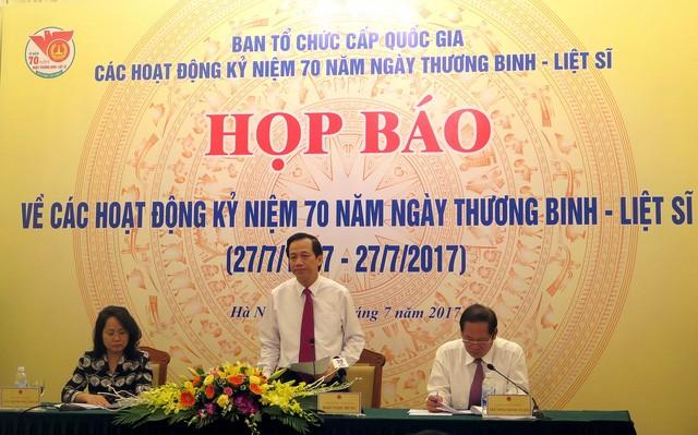 Anuncian diversas actividades para honrar a los inválidos de guerra y mártires de Vietnam - ảnh 1