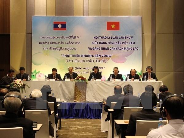 Concluye el quinto seminario teórico entre las organizaciones partidistas vietnamita y laosiana - ảnh 1