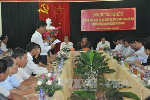 Vicepresidenta del Parlamento trabaja con autoridades de la provincia norteña de Lang Son  - ảnh 1