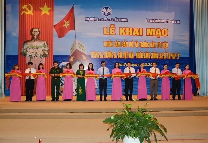 """Celebran en Yen Bai la exposición """"Hoang Sa-Truong Sa de Vietnam-Evidencias históricas y jurídicas""""  - ảnh 1"""