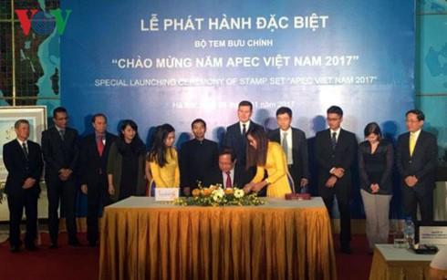 Vietnam emite una colección especial de sellos en saludo al Año APEC 2017 - ảnh 1