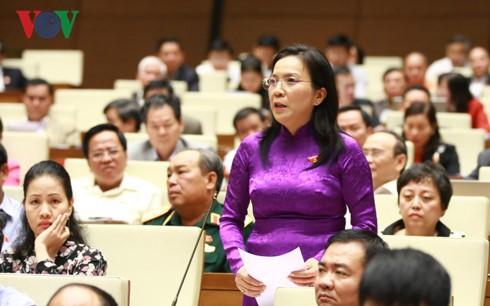 Parlamento de Vietnam analiza la implementación del objetivo nacional sobre la igualdad de género  - ảnh 1