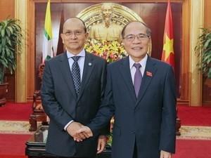 Parlamentspräsident Nguyen Sinh Hung empfängt Myanmars Präsident - ảnh 1