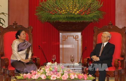 KPV-Generalsekretär Trong empfängt die Vorsitzende der laotischen Frauenunion - ảnh 1