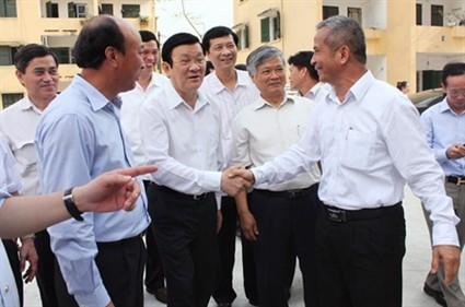 Staatspräsident Truong Tan Sang besucht die Provinz Quang Ninh - ảnh 1