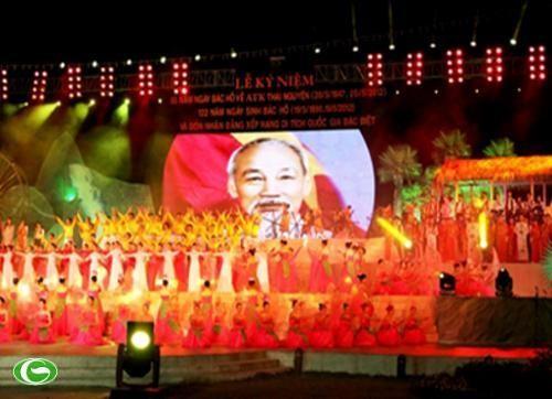 Thai Nguyen feiert den 65. Jahrestag des Besuchs von Präsidenten Ho Chi Minh - ảnh 1
