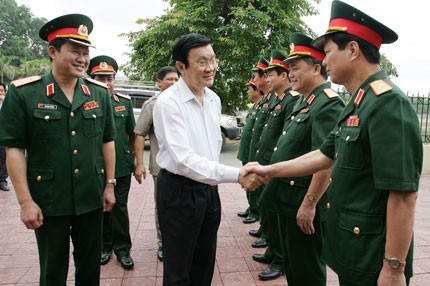 Staatspräsident Truong Tan Sang besucht die Provinz Thai Nguyen - ảnh 1