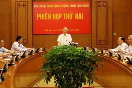 KPV-Generalsekretär Trong zu Gast auf Sitzung der Zentralkommission für Korruptionsbekämfung - ảnh 1