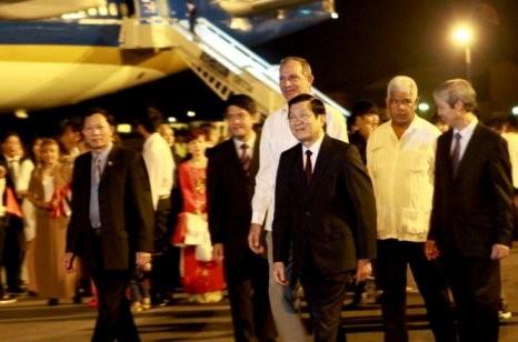 Staatspräsident Truong Tan Sang besucht Kuba - ảnh 1
