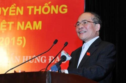 Parlamentspräsident Nguyen Sinh Hung nimmt am Festtag der Nationalsolidarität in Hanoi teil - ảnh 1