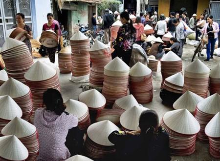 Schönheit der Strohhüte des Dorfes Chuong - ảnh 4