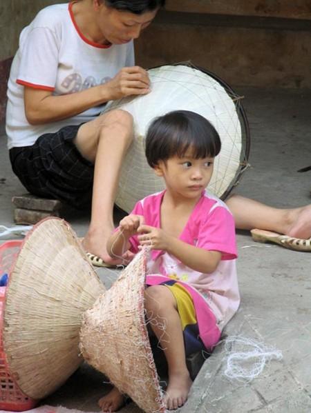 Schönheit der Strohhüte des Dorfes Chuong - ảnh 6