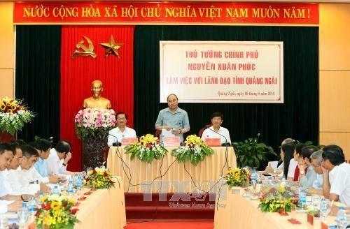 Premierminister Nguyen Xuan Phuc: Quang Ngai soll auf Investitionen in Landwirtschaft achten - ảnh 1