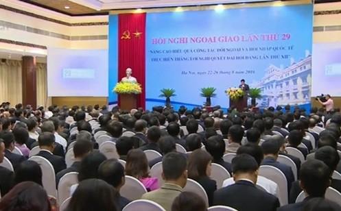 Eröffnung der 29. Landeskonferenz der Diplomatie - ảnh 1