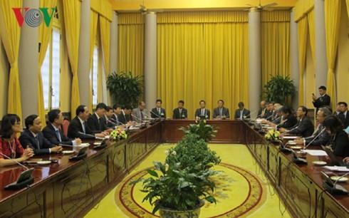 Staatspräsident Tran Dai Quang: Japan ist ein führender Partner Vietnams - ảnh 1