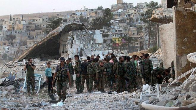 Neue Gefechte in Aleppo nach Ende der Waffenruhe - ảnh 1