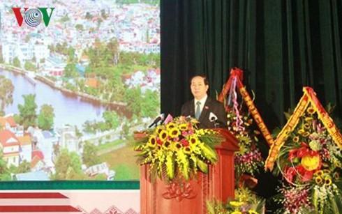 Staatspräsident zu Gast beim 185. Gründungstag der Provinz Lang Son - ảnh 1