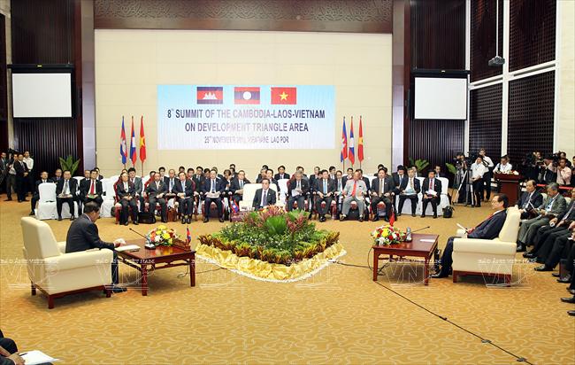 Effektive Zusammenarbeitsmechanismen des Dreiländerecks Kambodscha, Laos und Vietnam - ảnh 1