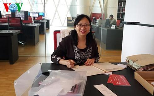 """Die Gruppe """"Canh Dieu"""" in Frankreich bewahrt die vietnamesische Sprache - ảnh 1"""