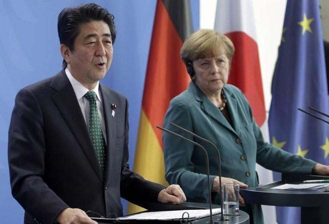 Japan und Deutschland wollen die Freihandelspolitik schützen - ảnh 1