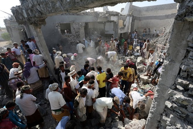Arabische Militärkoalition rief UNO zur Überwachung des Hafens Jemens auf - ảnh 1