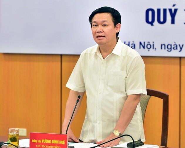 Vizepremierminister Vuong Dinh Hue leitet Sitzung der Beratungskommission für Finanzpolitik - ảnh 1