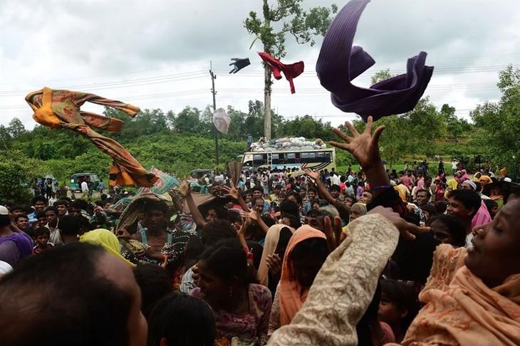 ສະພາຄວາມໝັ້ນຄົງ ສປຊອອກຖະແຫຼງການຮ່ວມ ຮຽກຮ້ອງຢຸດຕິການໃຊ້ຄວາມຮຸນແຮງຢູ່ ລັດ Rakhine ມຽນມາ - ảnh 1