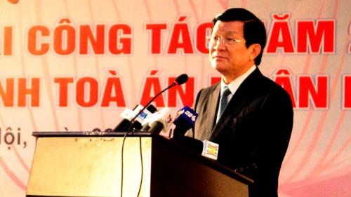 Staatspräsident Truong Tan Sang leitet Justizkonferenz - ảnh 1