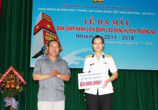 Vorstand der Arbeitsunion auf der Inselgruppe Truong Sa - ảnh 1