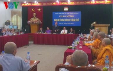 Vorsitzende der vaterländischen Front Vietnams Nguyen Thien Nhan empfängt Würdenträgerinnen - ảnh 1