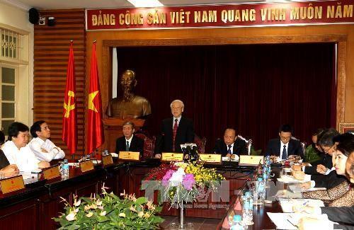 KPV-Generalsekretär Trong trifft Vertreter des Ministeriums für Kultur, Sport und Tourismus - ảnh 1